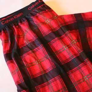 Calvin Klein Red Plaid Boys14/16 Pajama PJ Pants
